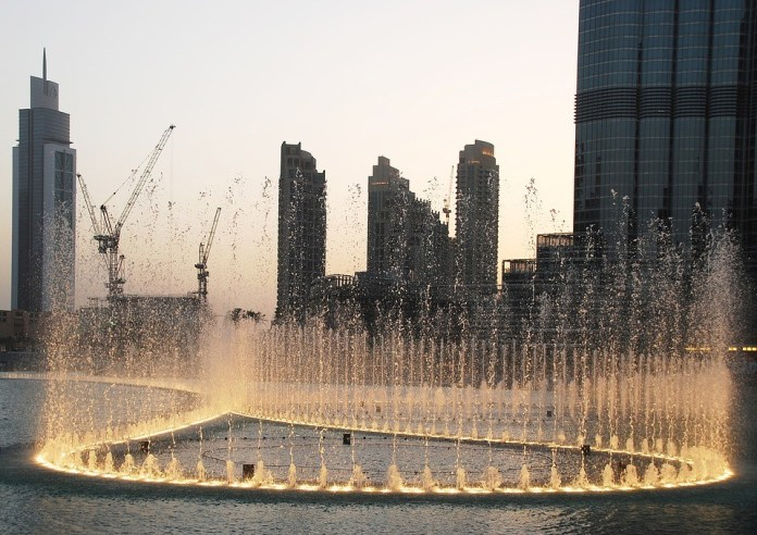 Dubai Fountain - top tourist destination in Dubai