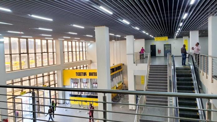Inside oshodi bus terminal