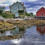 Low Tide at Peggy's Cove, Nova Scotia, revealing stunning patterns