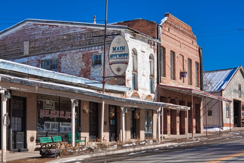 Austin Nevada historic buildings on the Main Street
