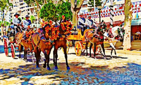 May Day in Seville, Spain