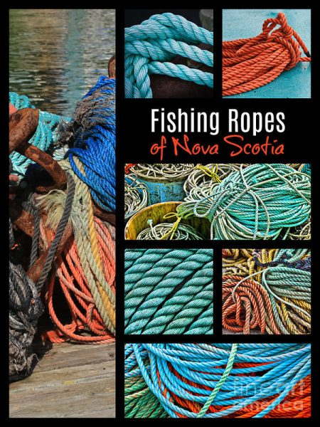 Fishing Ropes of Nova Scotia Collage Art Print