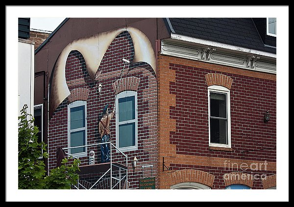Mural in Smith Falls, Canada - framed art print