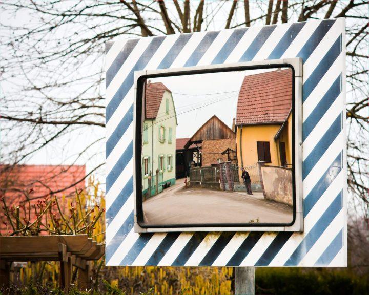 Alsace Street corner mirror