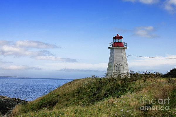 Lighthouse in Gabarus, Cape Breton, Nova Scotia