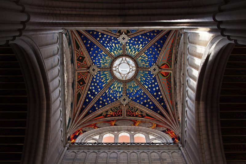 Almudena cathedral cupola, Madrid, Spain
