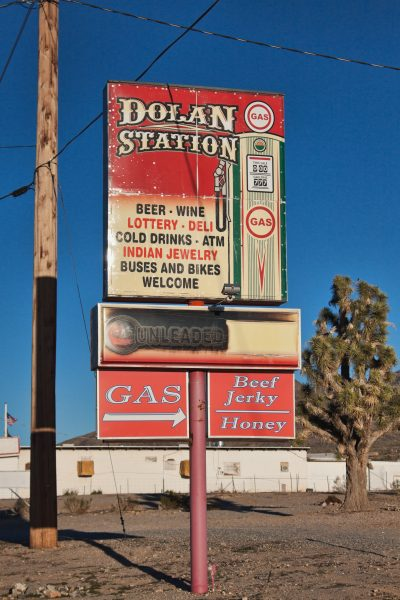 Dolan Springs Gas station sign