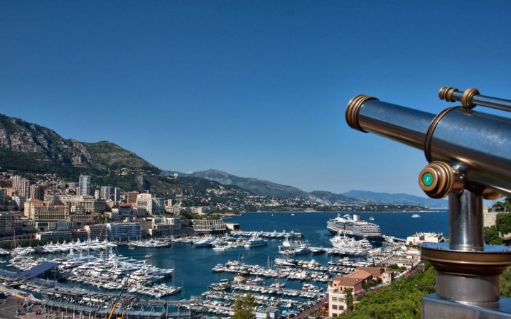 Monaco Montecarlo harbor view