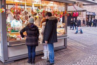 Candy kiosk in Nuremberg, Germany