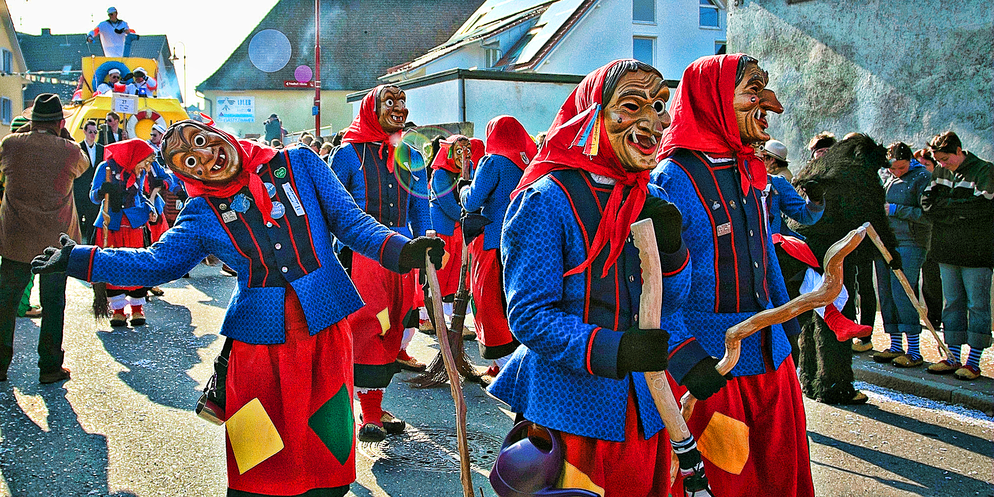 Spring carnival in Gottenheim, Germany