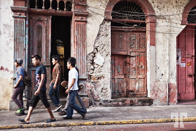 In the streets of the old Panama City Panama Casco Viejo