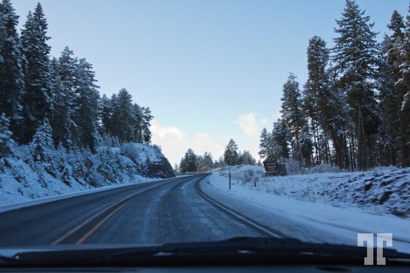 Snow on Hwy 95 Oregon - Nevada