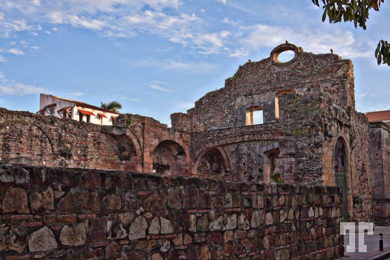 Convent of Santo Domingo ruins in Casco Viejo, Panama