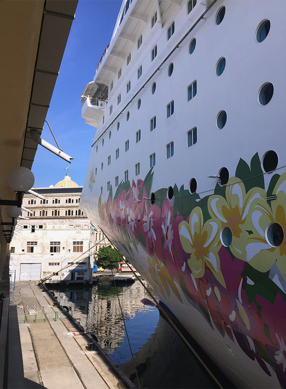 The Norwegian Sky docked at the Sierra Maestra Terminal in Old Havana. Photo Credit: Tom Stieghorst