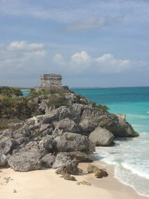 The God of Winds Temple guards Tulum's entrance to the sea. Photo Credit: Meagan Drillinger