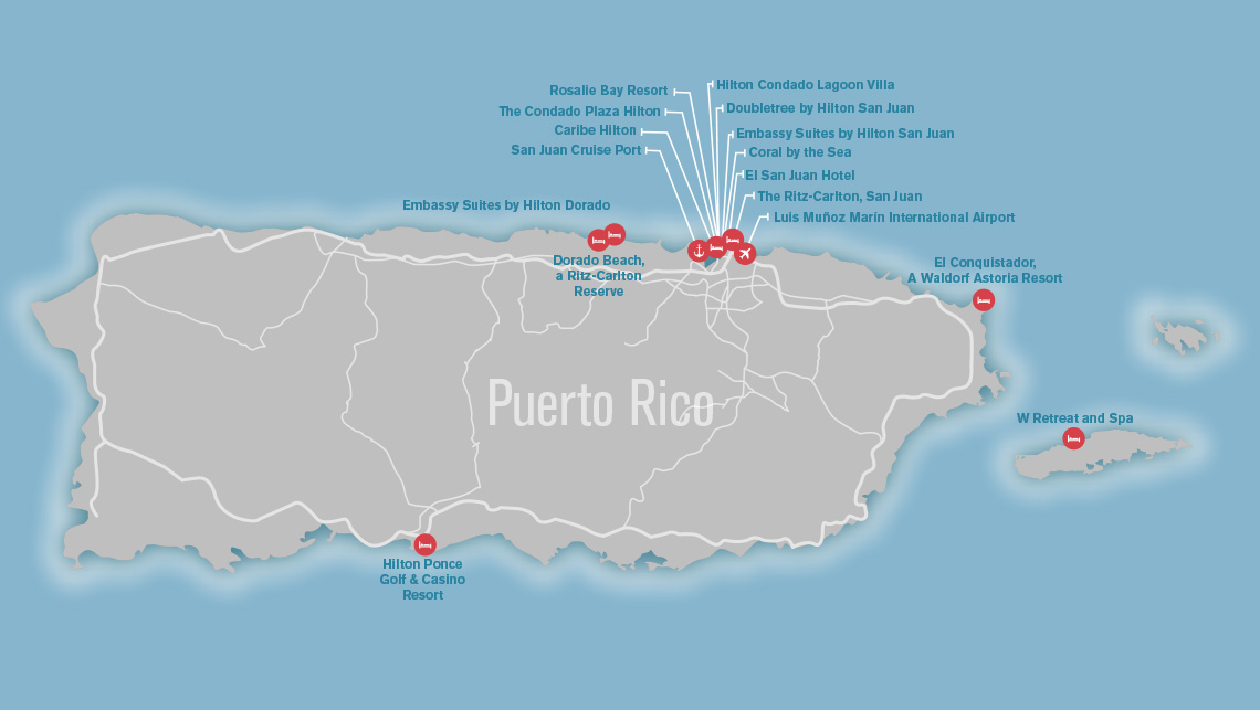 Map Puerto Rico After Maria