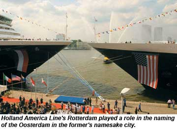 Holland America Line Rotterdam and Oosterdam christening