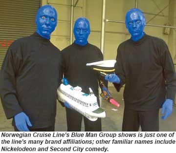 Norwegian Cruise Lines and the Blue Man Group are partnering up