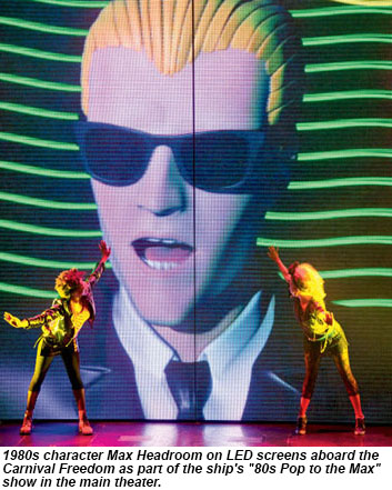80s Pop To The Max in the main theater on the Carnival Freedom.