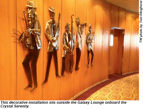 Outside the Galaxy Lounge on the Crystal Serenity.