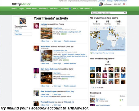 Try linking your Facebook account to TripAdvisor.