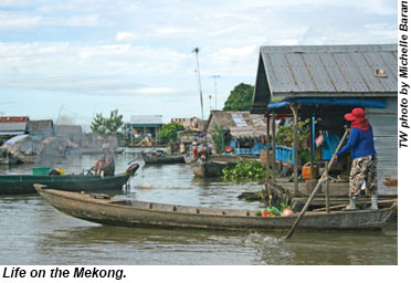 Life on the Mekong.