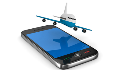 Plane and phone
