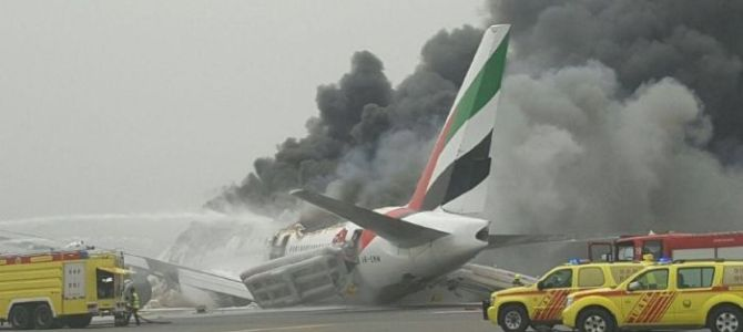 Emirates Airlines Plan Crash on Airport in Dubai.