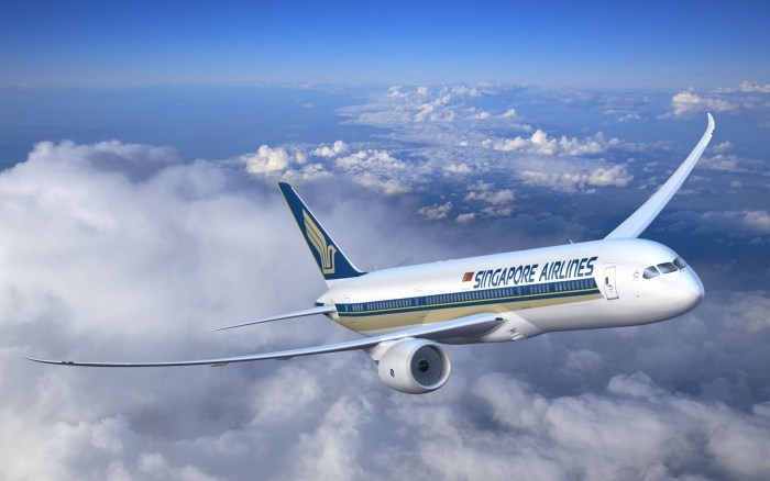 Singapore Airlines travel wide flights