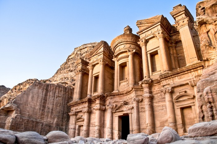 Petra Monastery Jordan Travel Wide Flights