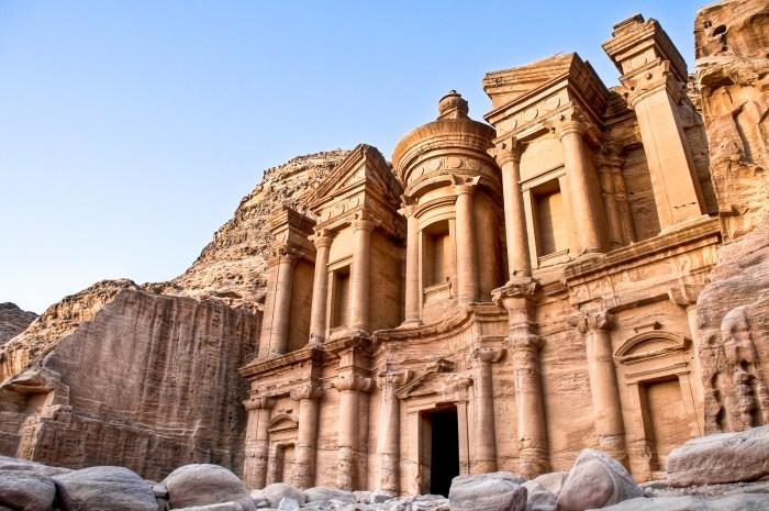 Petra Monastery Jordan Travel Wide Flights
