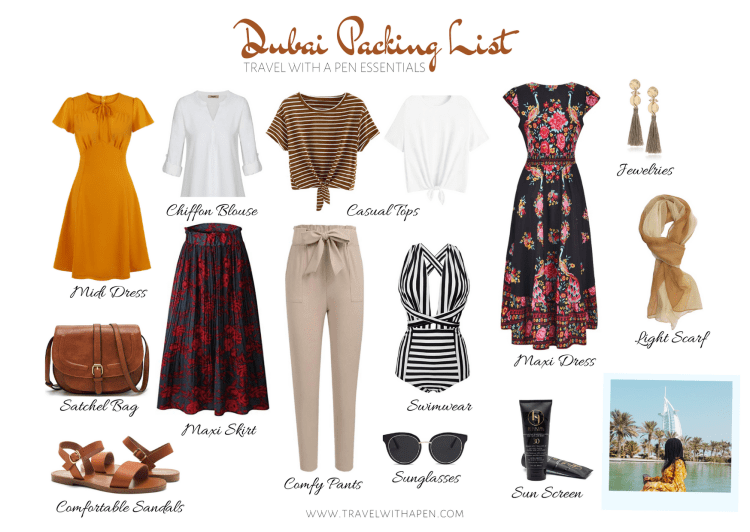 Dubai Packing List