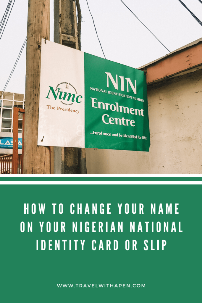 Nigerian Passport Renewal and Change of Name