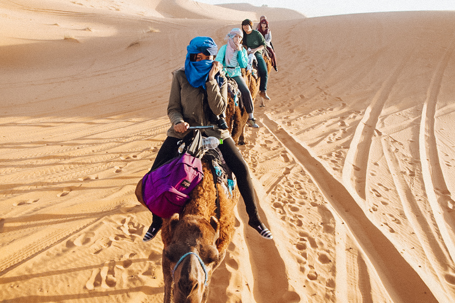 Camel Riding in Morocco Sahara Desert