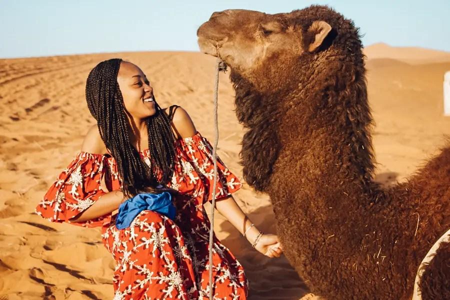 Camping in the Sahara Desert Merzouga