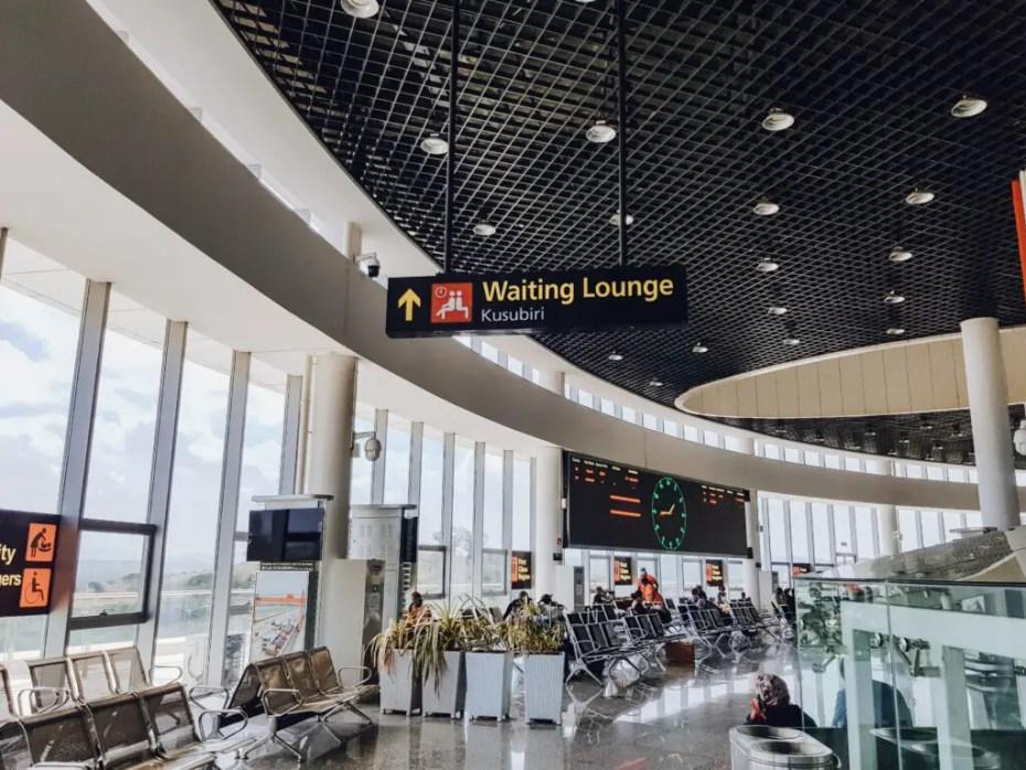 SGR Mombasa to Nairobi First Class Waiting Area