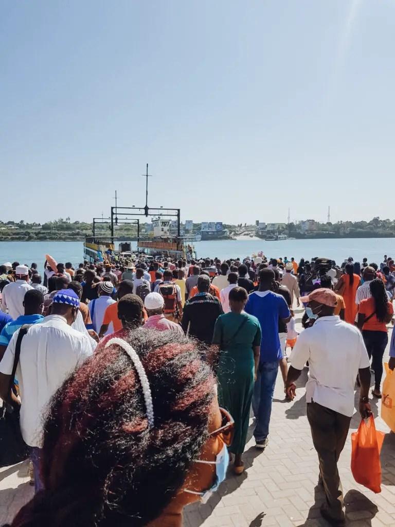 Likoni Channel Ferry Crossing