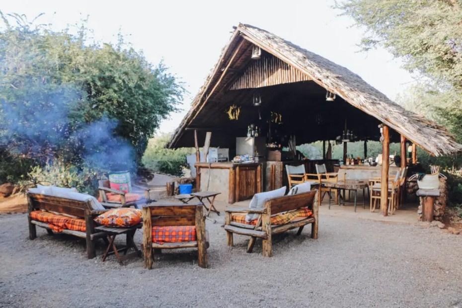 Outdoor kitchen Amboseli Bush Camp