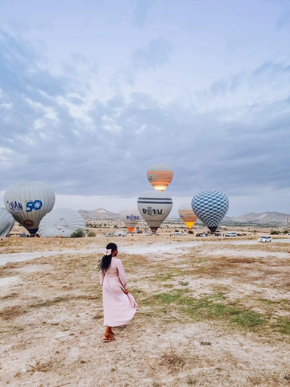 Balloons Take off point, Cappadocia