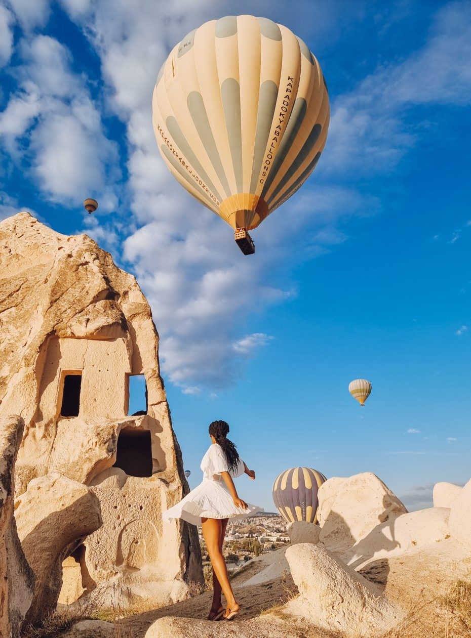 Chasing balloons in Cappadocia