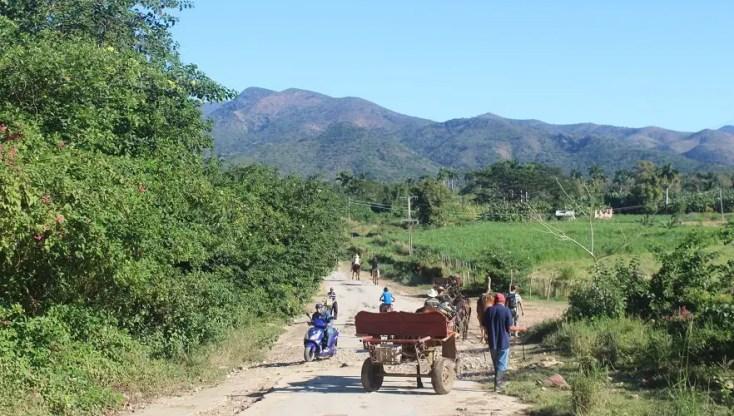 Start point of trip to Salto del Caburni