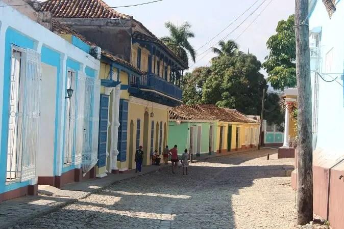 Colorful side street in Trinidad, Cuba