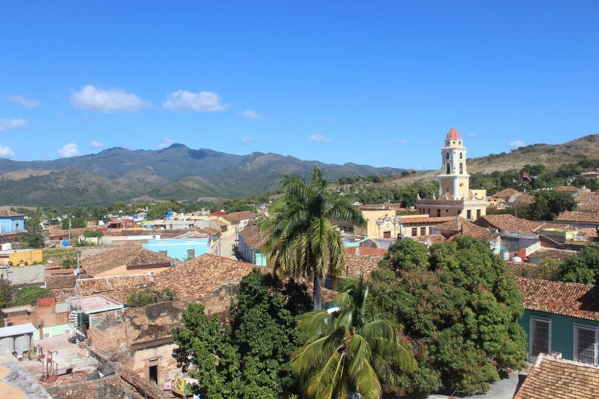 Trinidad seen from the tower of Palacio Cantero
