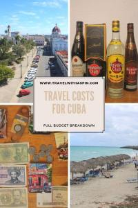 Travel costs for Cuba budget