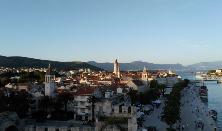 Trogir seen from the Kamerlengo fortress, Croatia