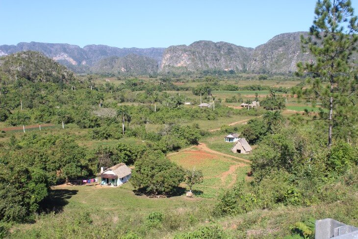 View over Vinales Valley from Balcon del Valle