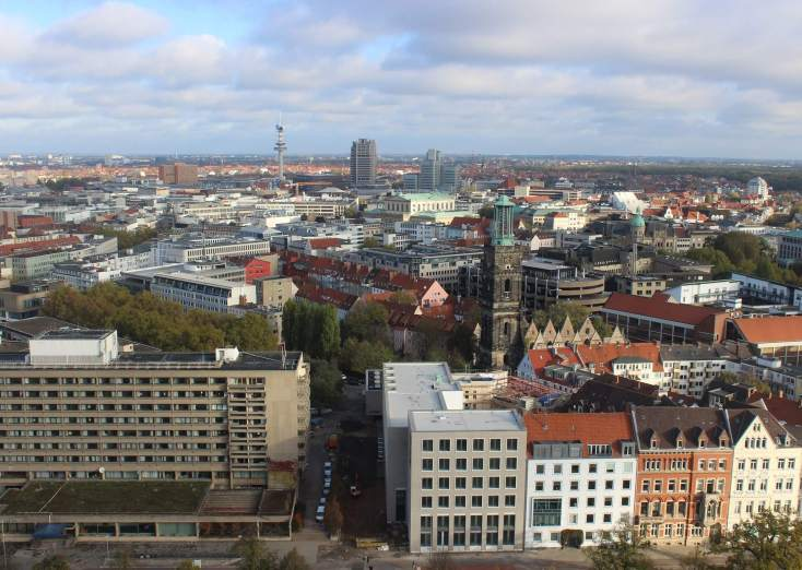 Hanovra seen from the tower of the New Cityhall, Germany