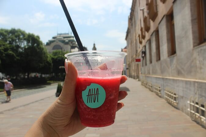 raspberry prosecco smoothie kosice