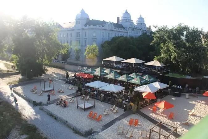 Danube river summer culture