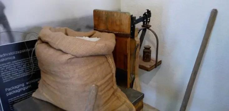 Tools used in salt extraction at Nin, Croatia